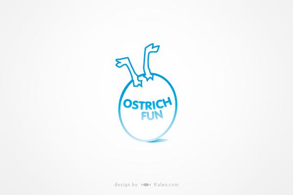ostrichfun-logo-design