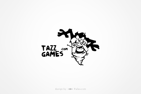 tazzgames-logo-design
