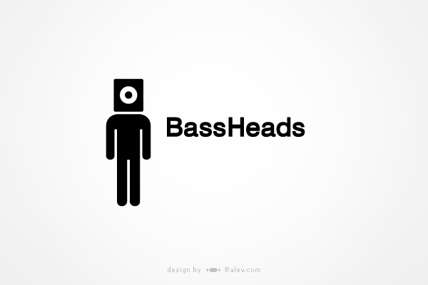 bassheads music label logo design