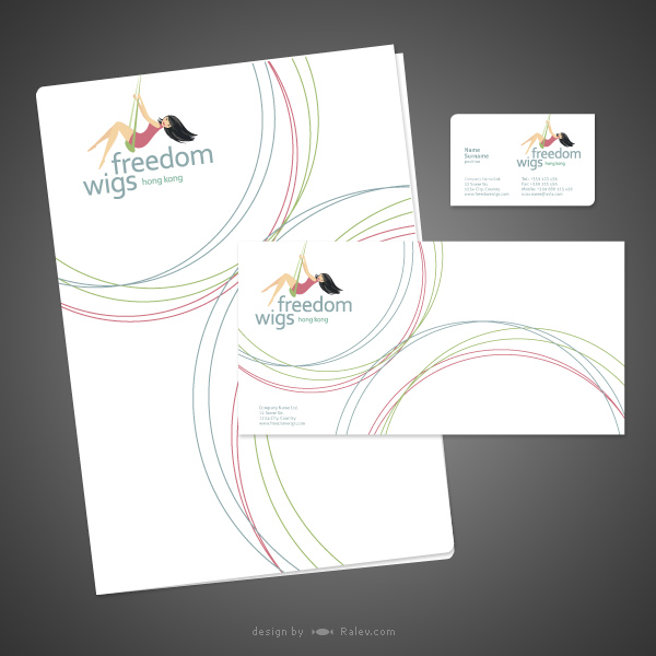 hong kong wigs company stationery design
