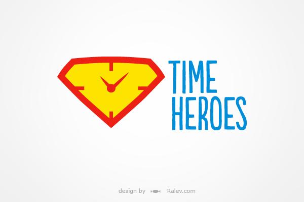 Time Heroes platform - logo design