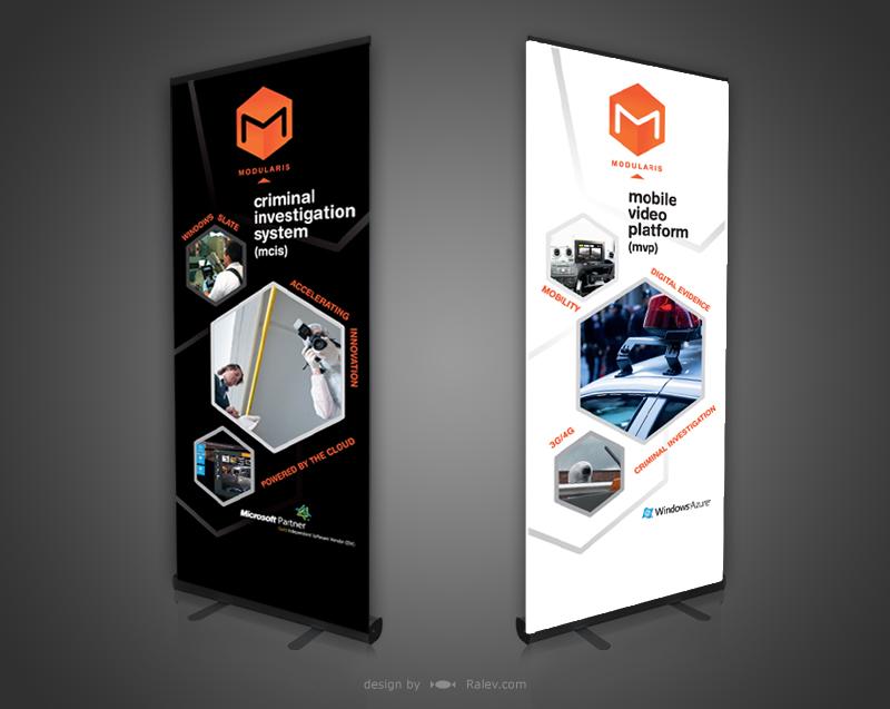 Roll Up Banner amp Leaflet Design Modularis Ralevcom