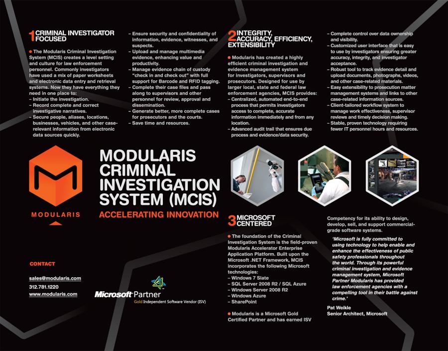 modularis banner leaflet design