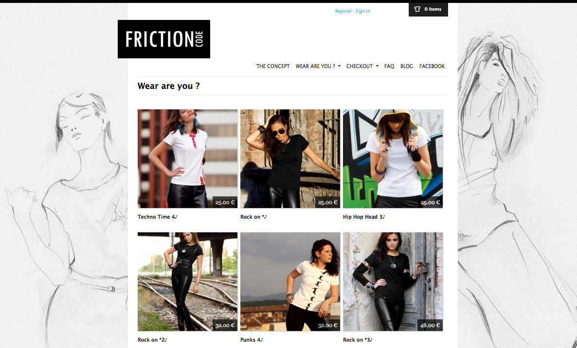 Fashion clothes website
