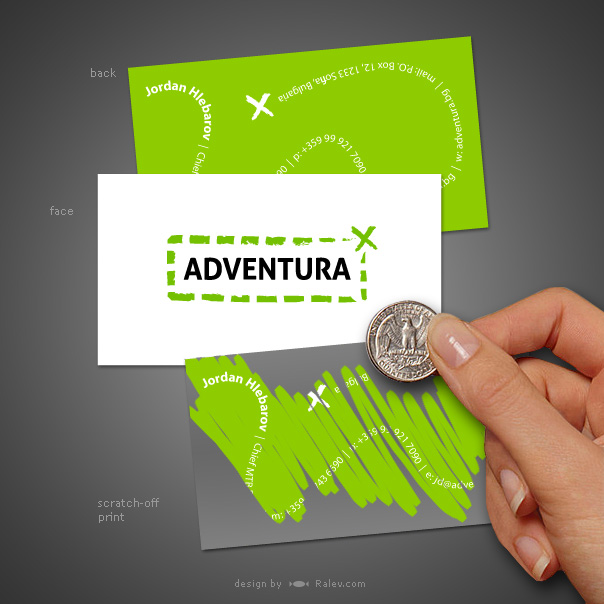 adventura business card ralev premium logo brand design