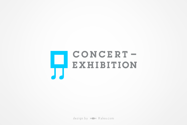concert exhibition logo design