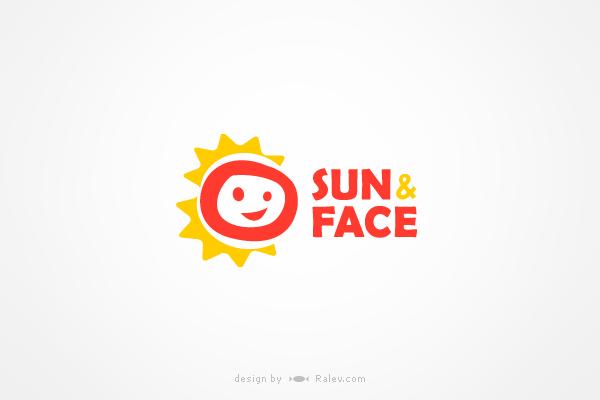 sun amp face logo design ralevcom brand design