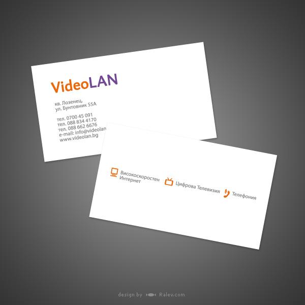 videolan business card ralev premium logo brand design