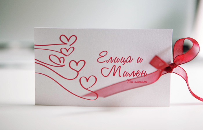 Wedding invitation design - Eli & Milen | Ralev.com Brand Design