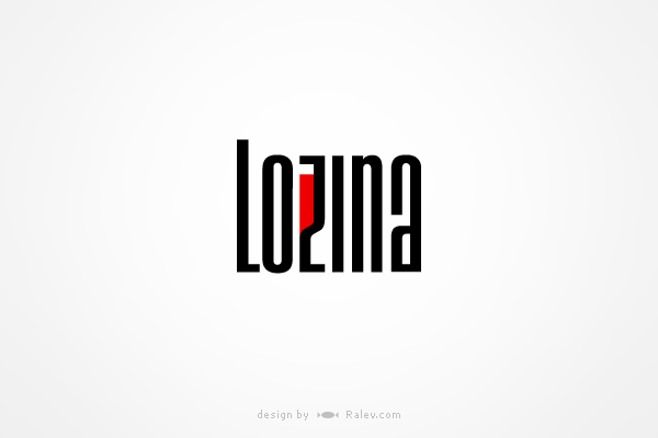 lozina estate winery logo design