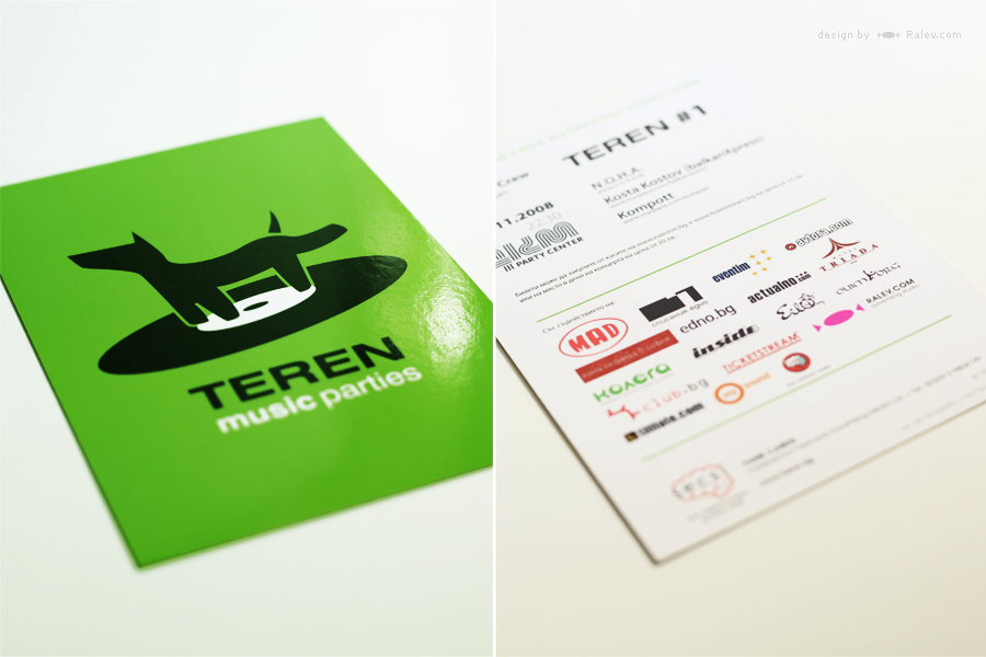 advertising card logo design