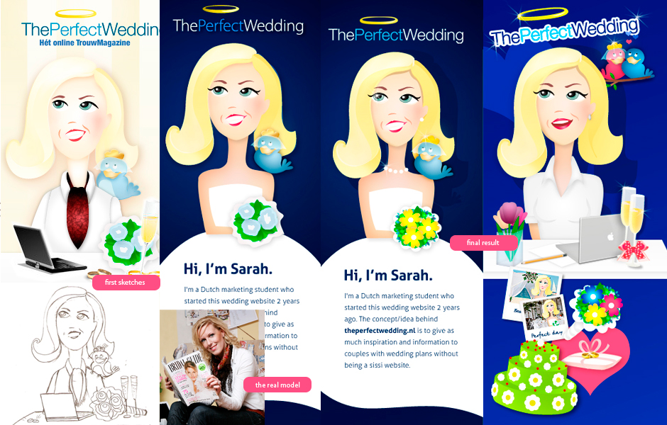wedding profile twitter design