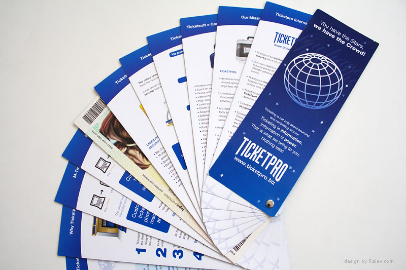 ticket services brochure design