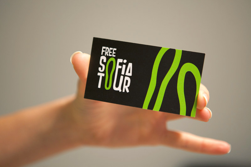 business card front black
