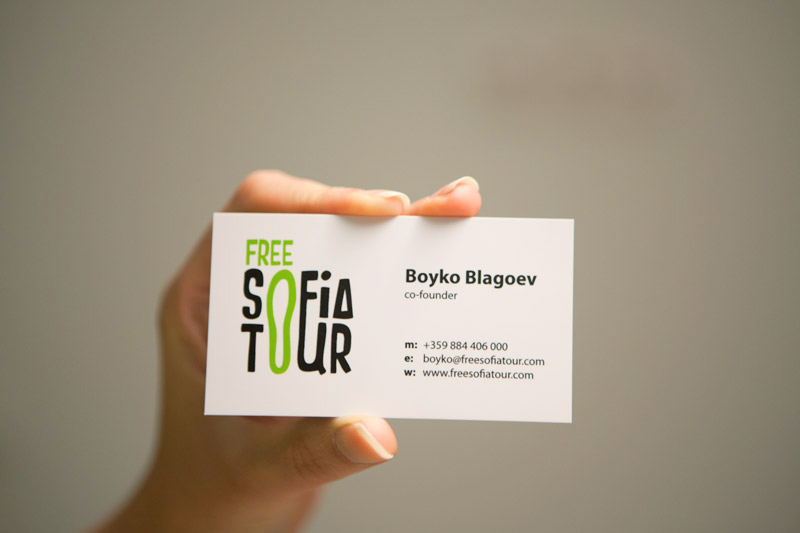 business card back white