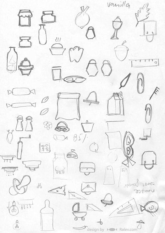 Fantastiko logo designs sketches