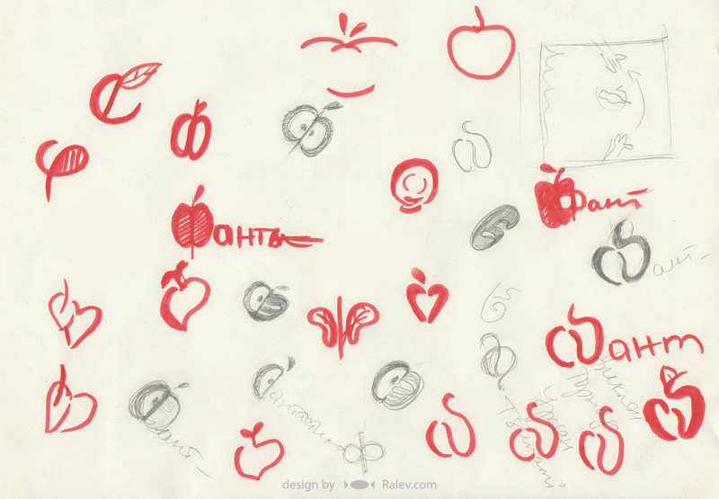 logo identity design sketches