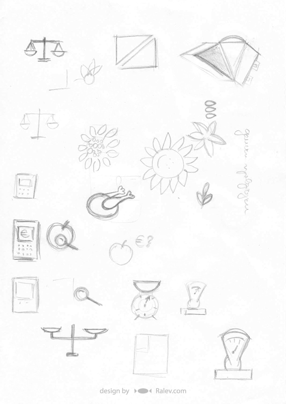 hypermarket logo designs sketches
