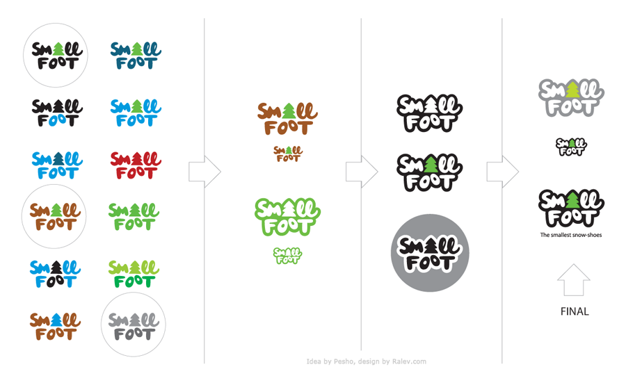 Small Foot logo design process