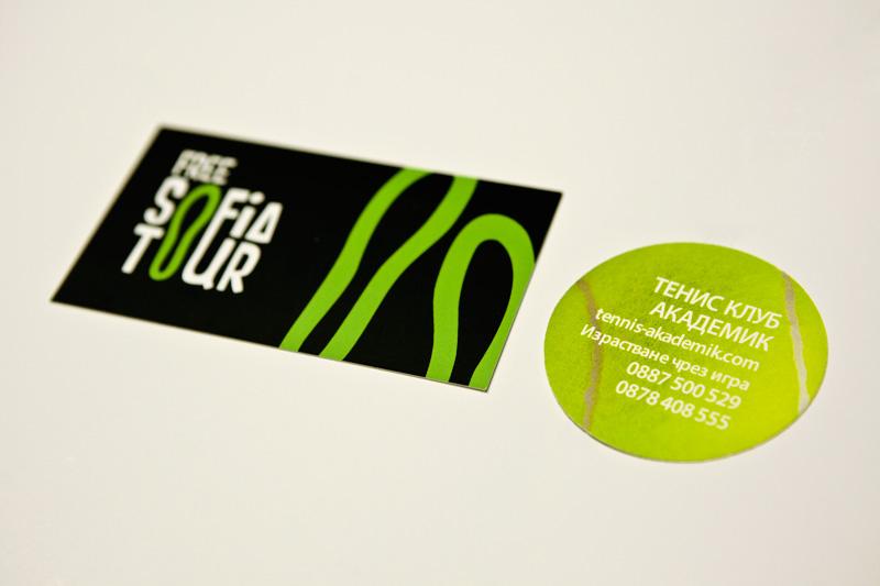 circular business card design
