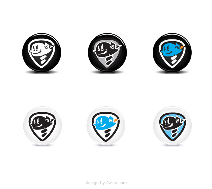 band identity badges design