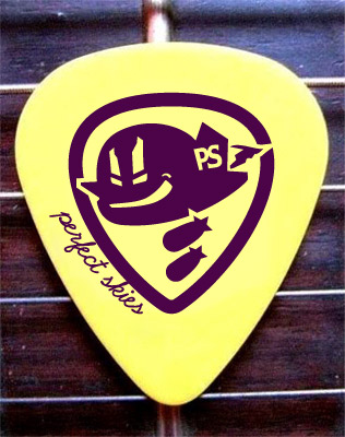 band identity guitar pick design