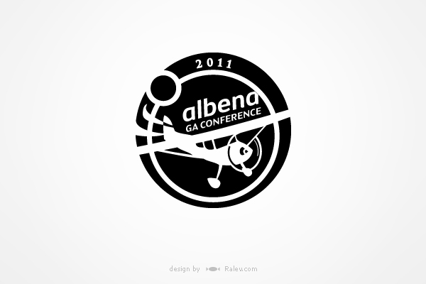 conference logo design in b/w