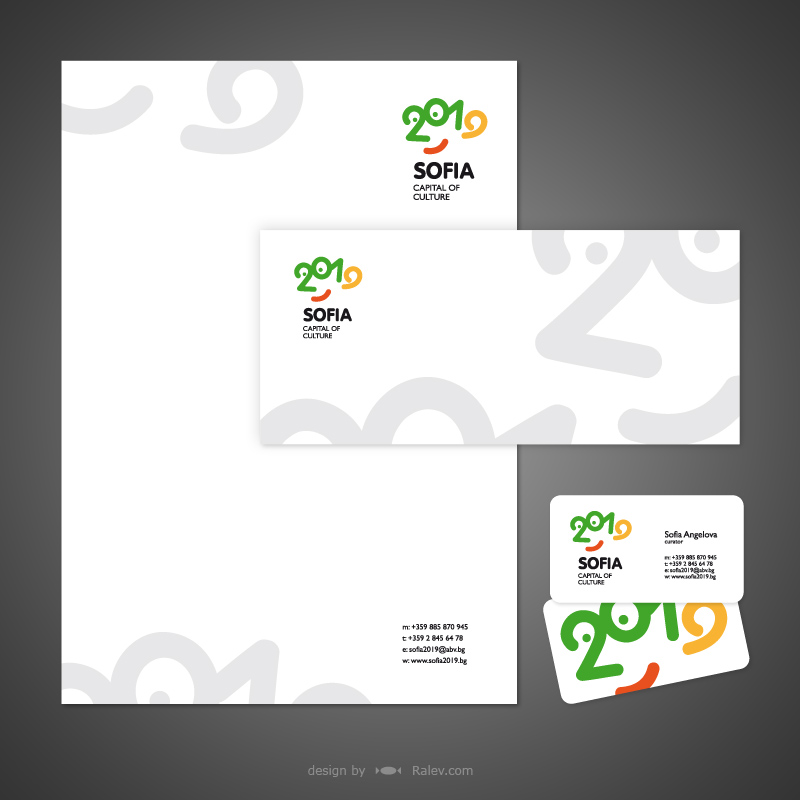 brand design for stationery set
