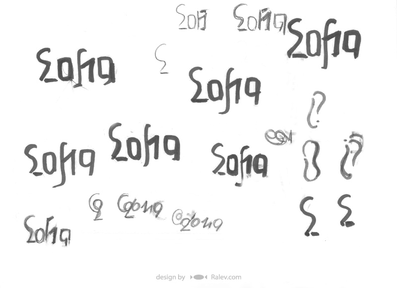 Sofia 2019 logo design sketches