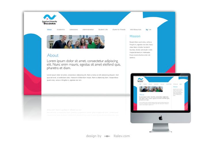 American University web design