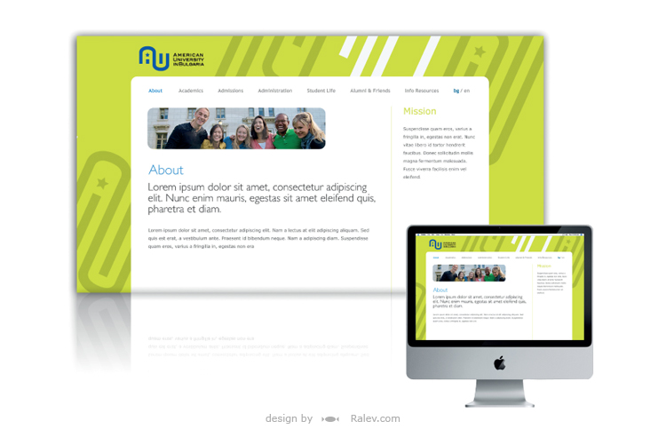 American University web identity