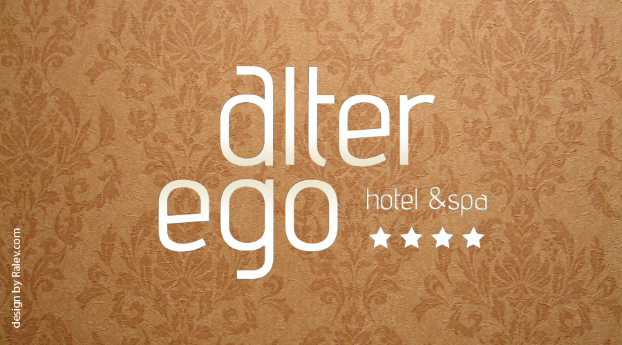Alter Ego hotel logo design