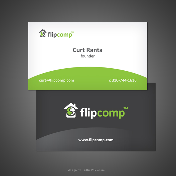 FlipComp business card brand design