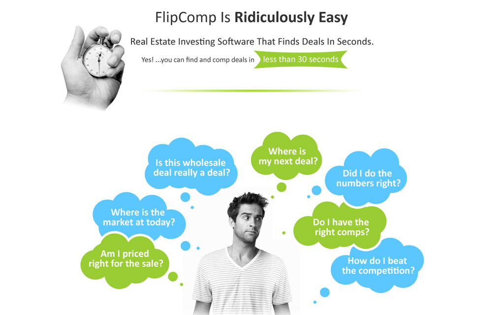 FlipComp website design