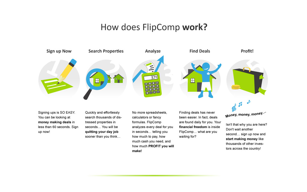 FlipComp interface design