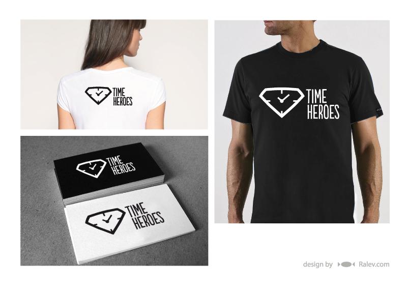 Time Heroes - logo design presentation