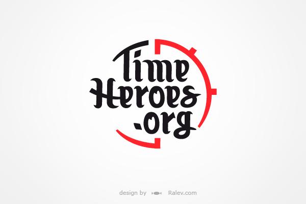 Time Heroes logo design variation