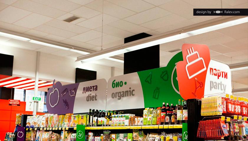supermarket interior brand identity