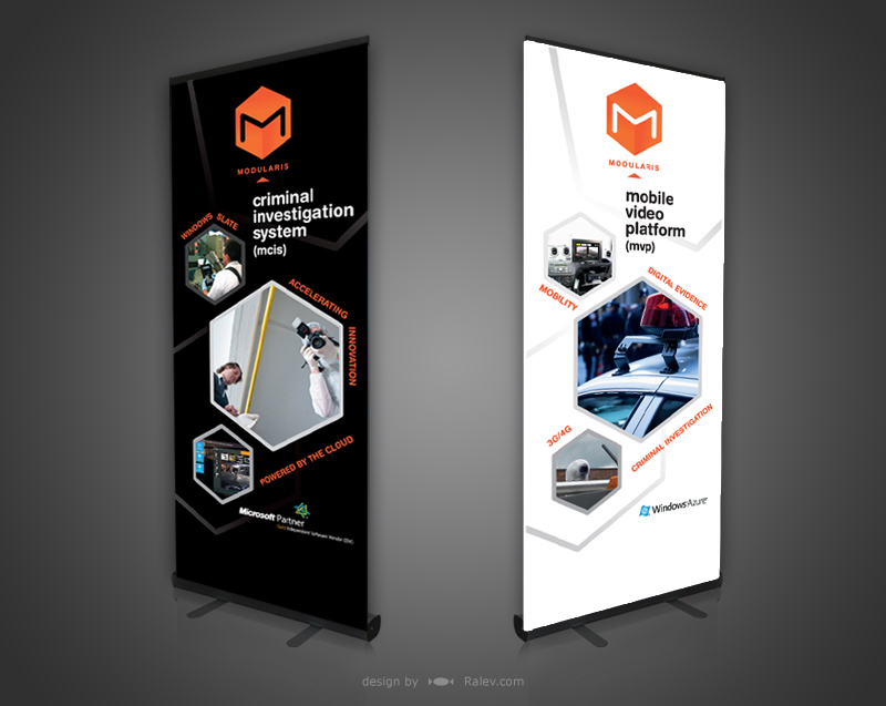 Roll Up Banner Amp Leaflet Design Modularis Ralev Com