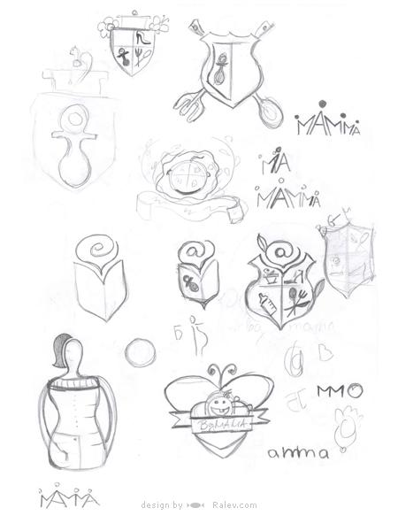 BG-Mamma logo sketch
