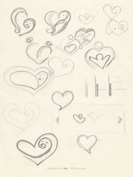 BG-Mamma logo design sketch