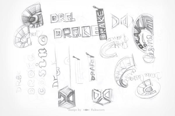 Drake - online casino logo design sketches