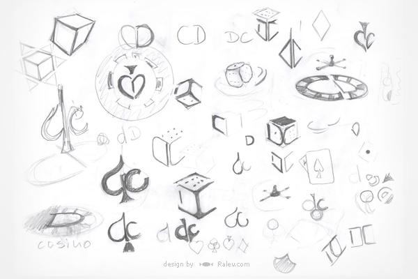 Drake Casino - logo design sketches