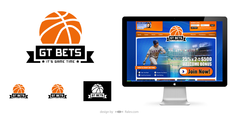 GT Bets - logo identity redesign visualization