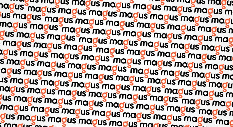 Logo Design Magus Tape identity design pattern