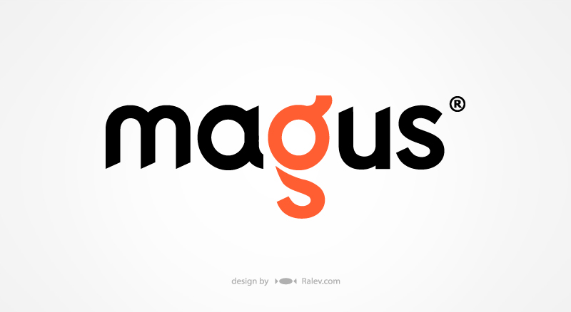 Magus tape brand logotype design