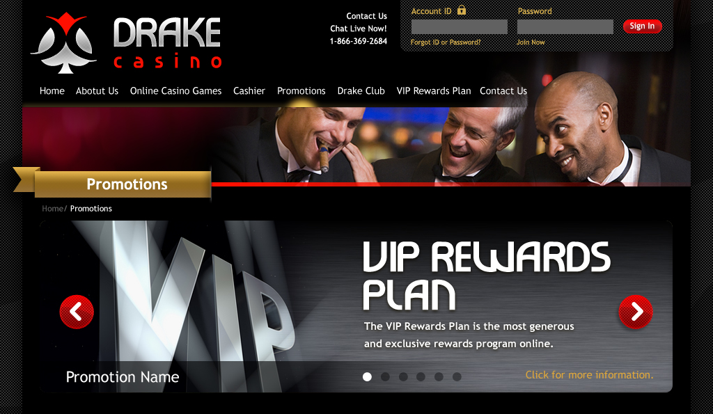Drake - online casino website design