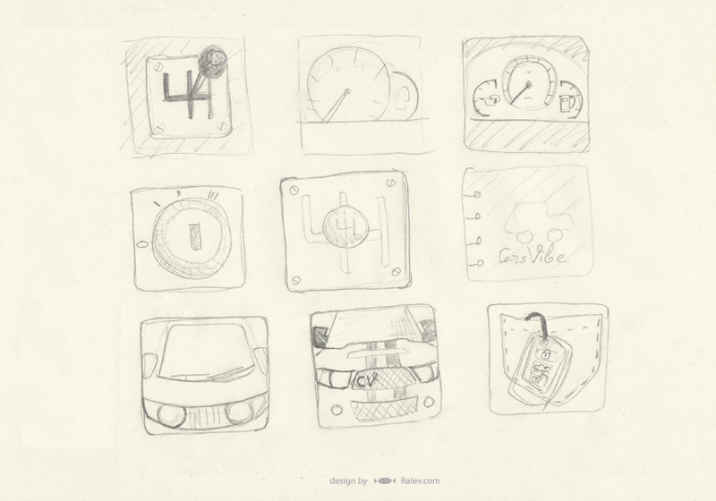 Cars Vibe - icon sketches