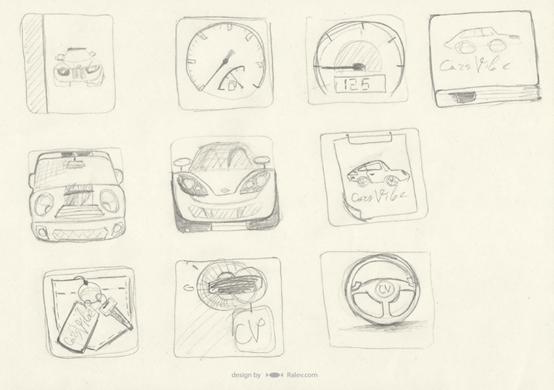 Cars Vibe - icon sketches phone app