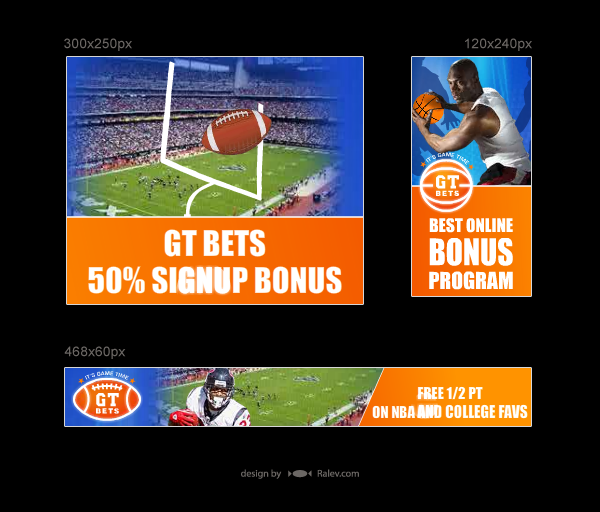 GT Bets - banners design